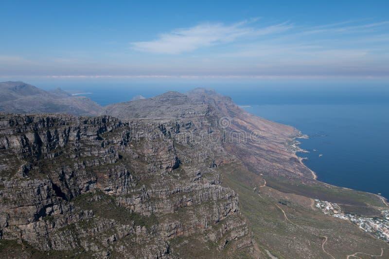 Vista da montanha da tabela, Cape Town, África do Sul foto de stock