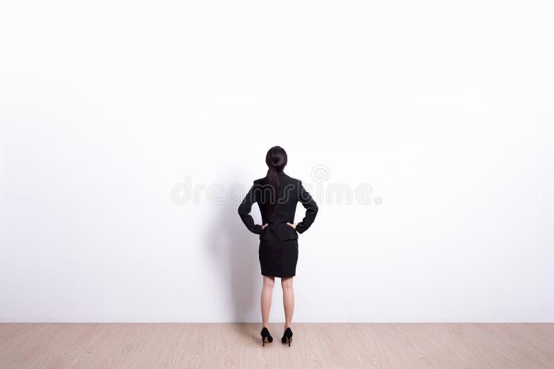 Vista da mulher de negócio imagem de stock royalty free