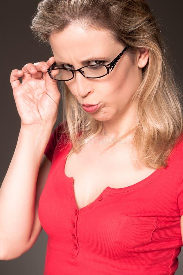 Vista da mulher nova fotos de stock