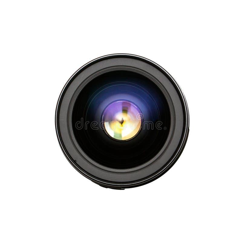 Vista da parte dianteira da objetiva fotografia de stock