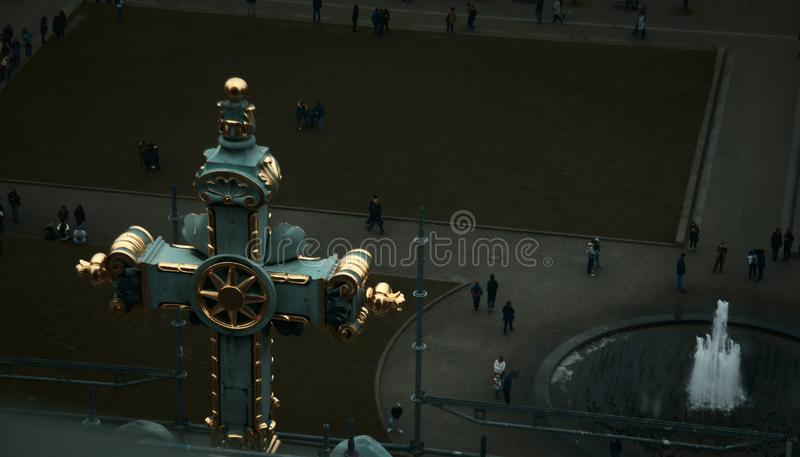 Vista da parte superior da catedral de Berlim imagens de stock