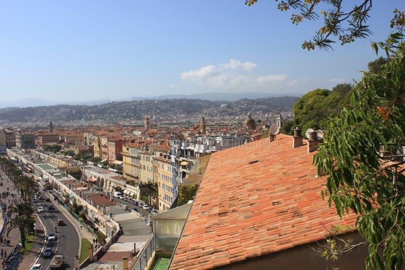Vista da parte superior da cidade de agradável, França fotografia de stock royalty free