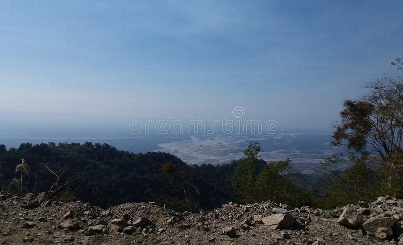 Vista da parte superior do monte imagem de stock royalty free