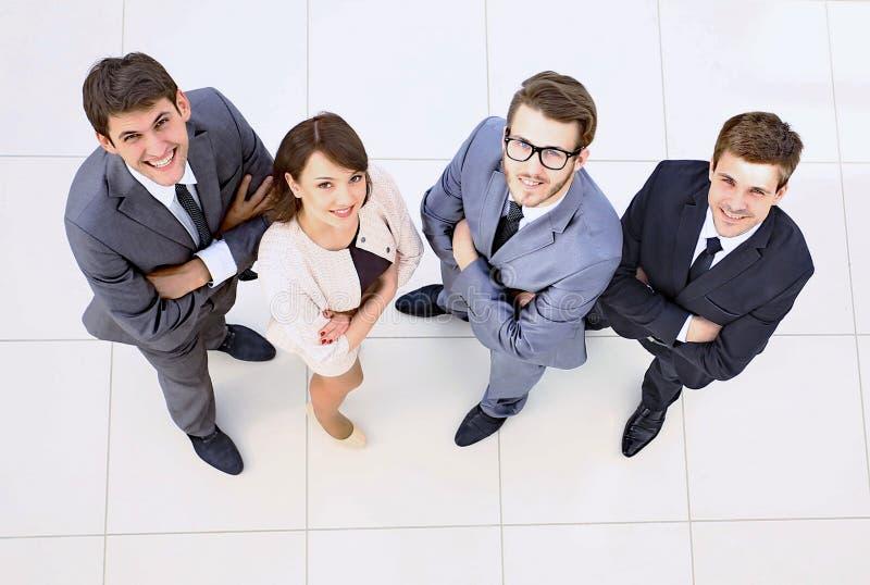 Vista da parte superior Equipe bem sucedida do negócio imagem de stock royalty free