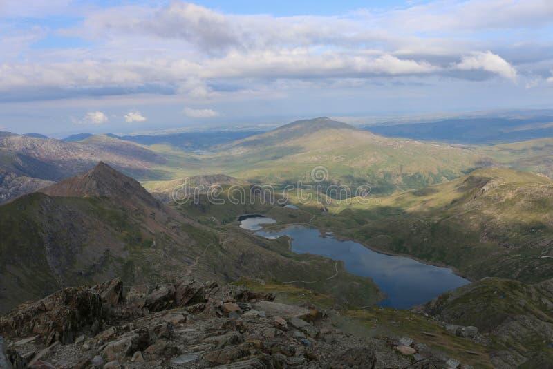Vista da parte superior da montagem Snowdon imagem de stock