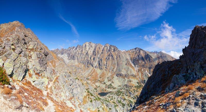 Vista da parte superior da montanha no Tatras alto, Eslováquia fotos de stock