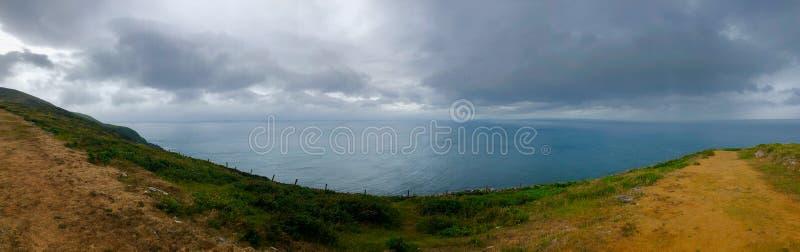 Vista da parte superior no ponto de Brandon, península do Dingle, Irlanda imagens de stock