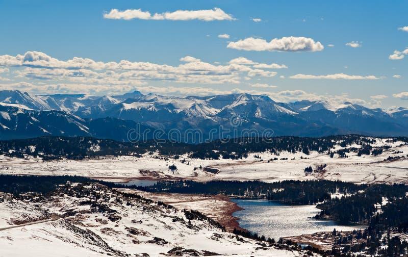 Vista da passagem de Beartooth, Montana, EUA imagens de stock