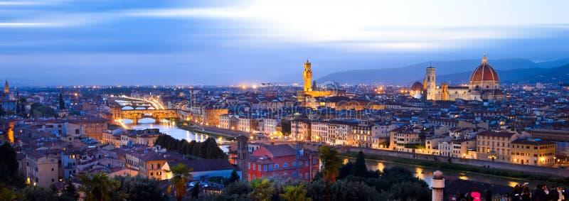 Vista da Piazzale Michelangelo a Firenze fotografia stock