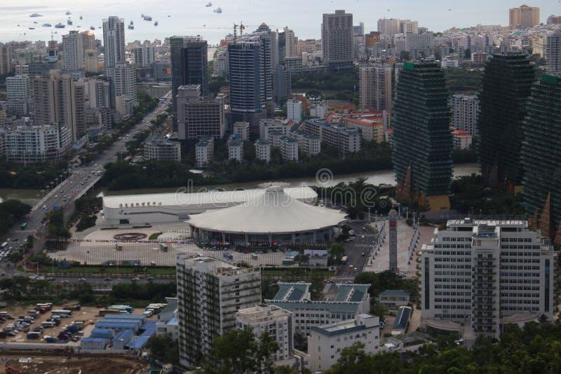 A vista da plataforma de observação no local de encontro da competição da senhorita World foto de stock royalty free