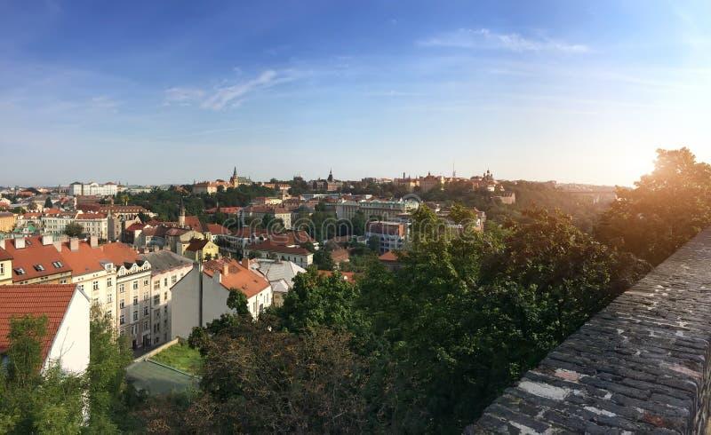 Vista da plataforma de observa??o na cidade velha, Praga, Rep?blica Checa foto de stock royalty free