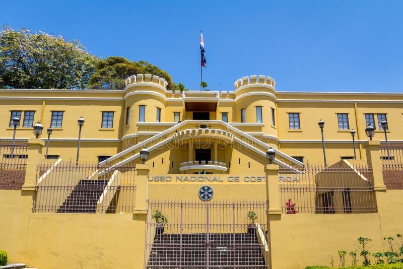 Vista da plaza de la Democracia do Museu Nacional de Costa Rica fotografia de stock