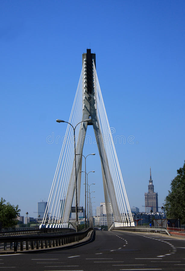 Vista da ponte foto de stock