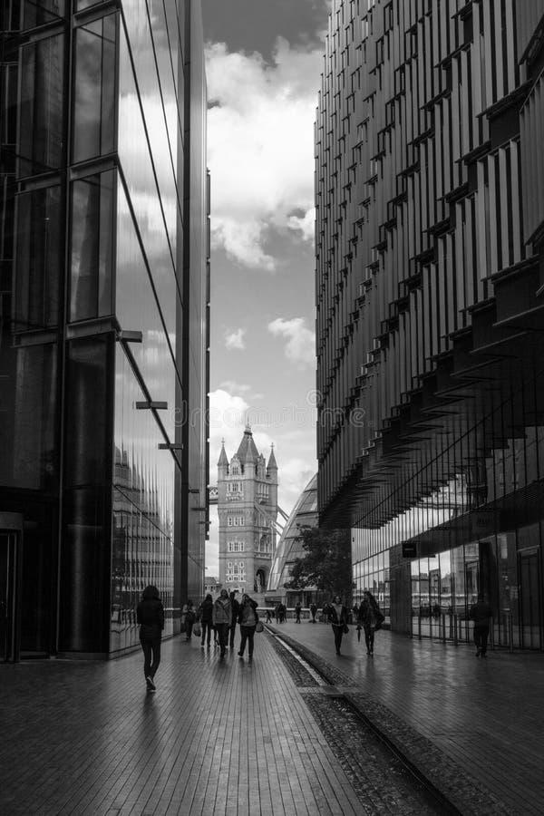 Vista da ponte da torre, Londres foto de stock royalty free