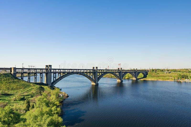 Vista da ponte da transfiguração imagens de stock royalty free