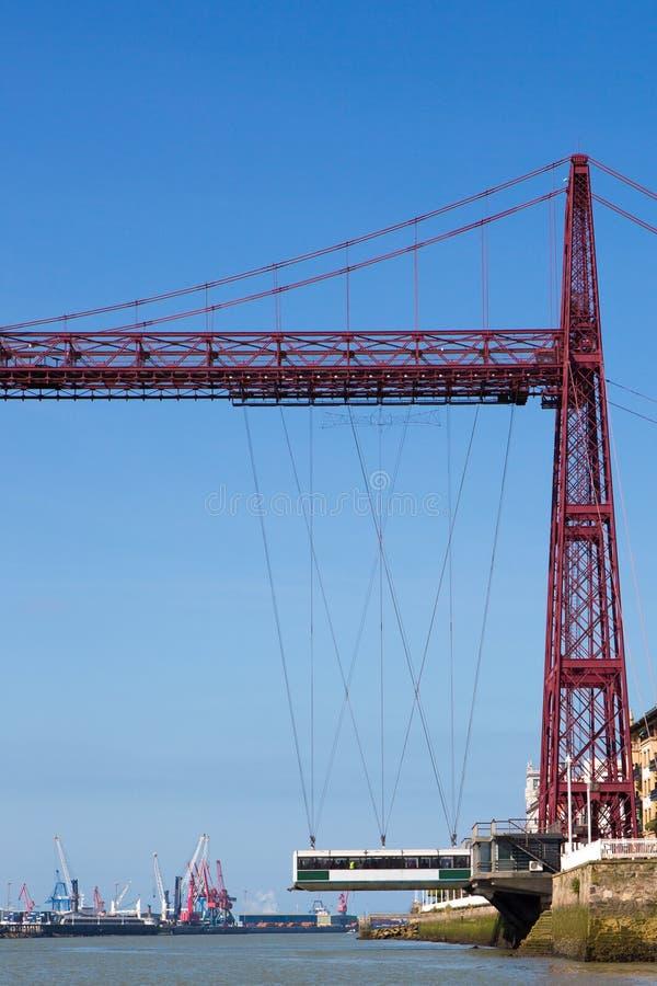 Vista da ponte de Biscaia fotografia de stock royalty free