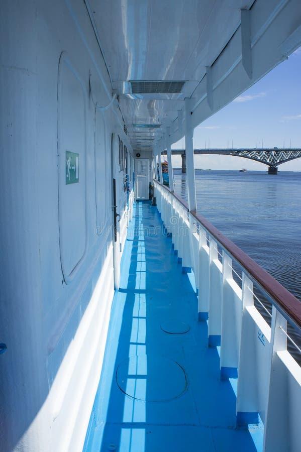 Vista da ponte de Saratov fotos de stock