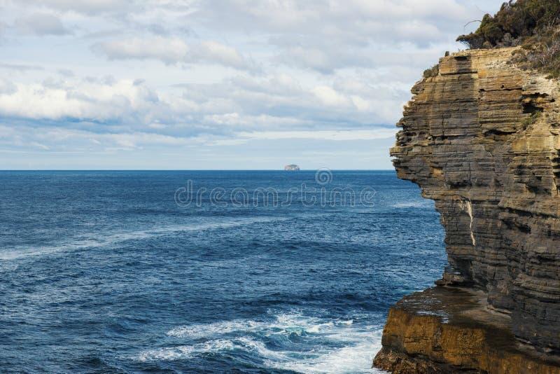 Vista da praia da cozinha dos diabos, Tasmânia fotos de stock royalty free
