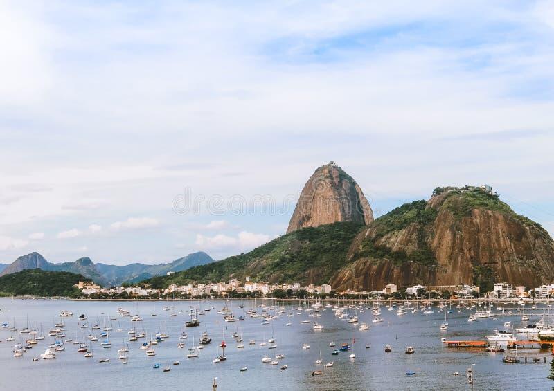Vista da praia de Botafogo fotografia de stock royalty free