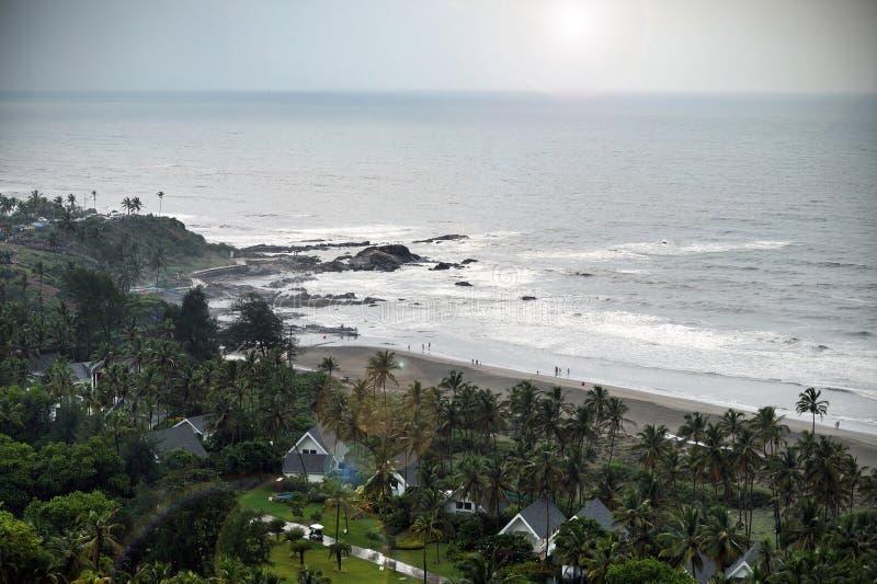 Vista da praia de Vagator, Goa imagens de stock