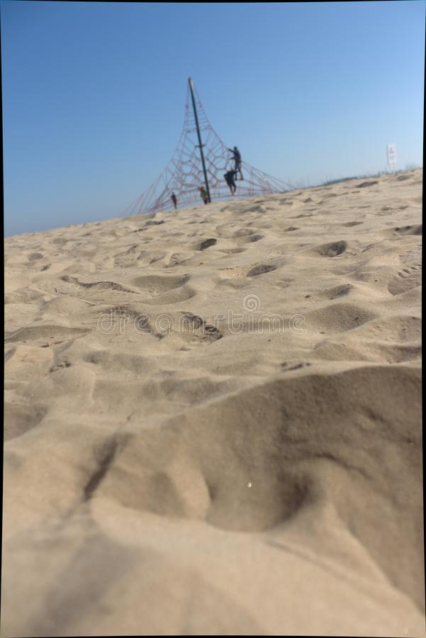 Vista da praia de Valência imagens de stock