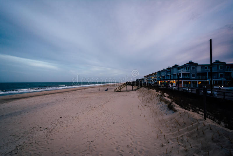 Vista da praia em Bethany Beach, Delaware fotos de stock royalty free