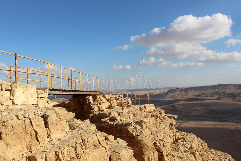 Vista da ravina em Mizpe Ramon, Israel imagens de stock