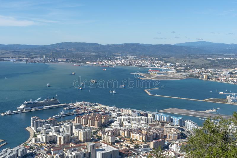 Vista da roccia di Gibilterra fotografie stock