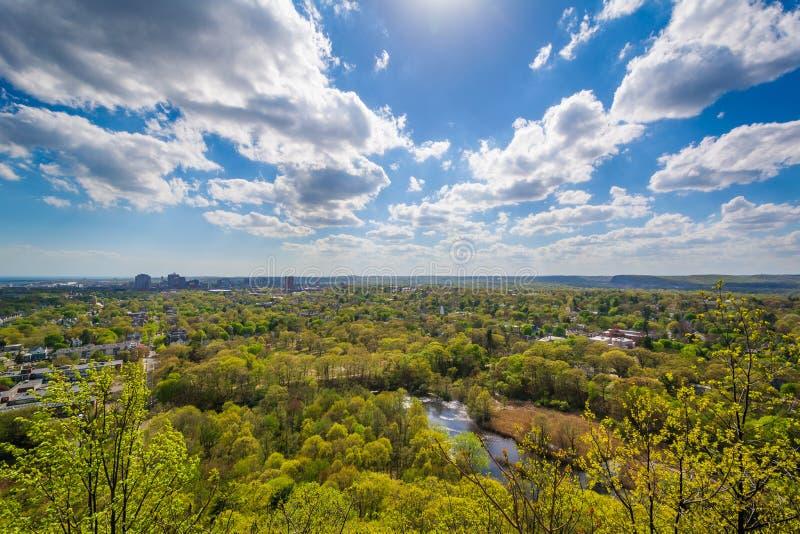 Vista da roccia orientale, a New Haven, Connecticut immagini stock libere da diritti