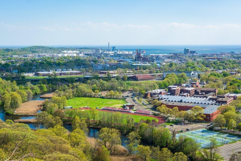 Vista da roccia orientale, a New Haven, Connecticut fotografia stock libera da diritti