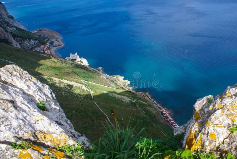 Vista da rocha de Gibraltar imagem de stock royalty free