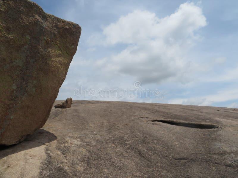 Vista da rocha encantado, Texas fotografia de stock