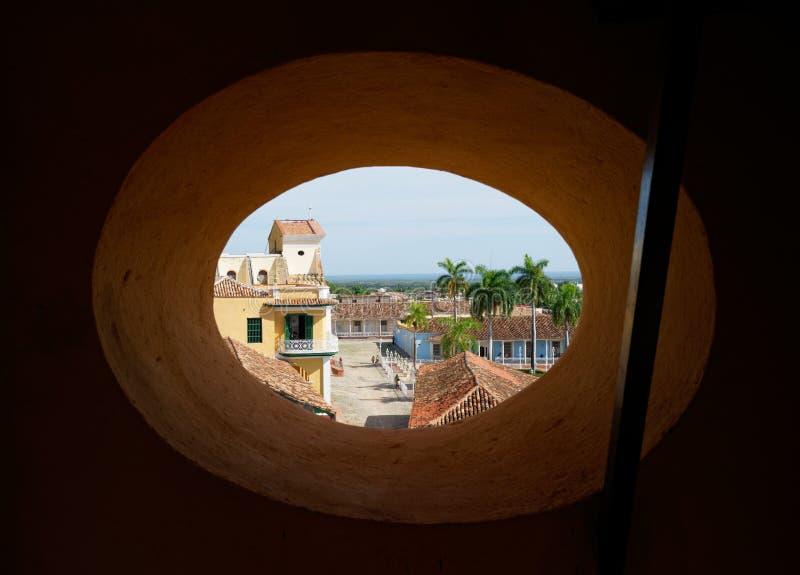 Vista da rua de Trinidad de Cuba imagem de stock royalty free