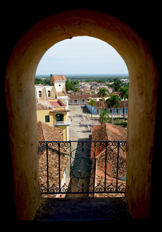 Vista da rua de Trinidad de Cuba imagem de stock