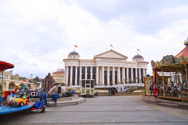 Vista da Skopje del centro, la capitale macedone immagine stock libera da diritti
