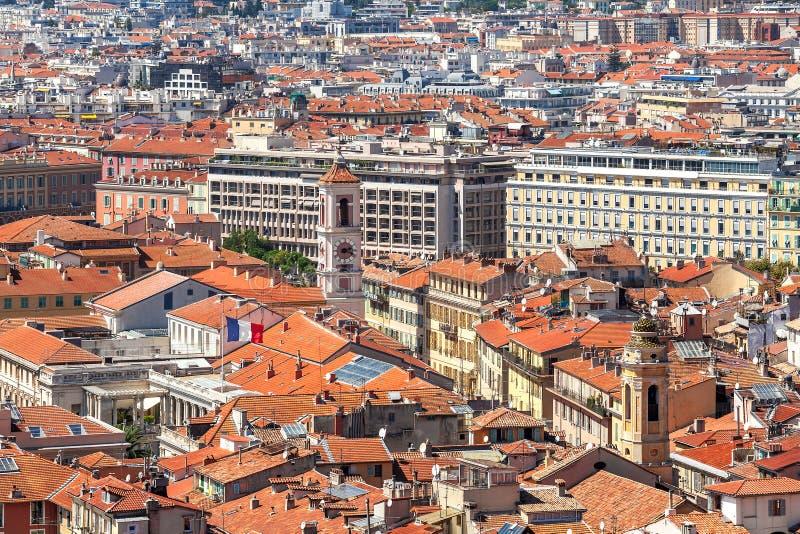 Vista da sopra su Nizza, Francia immagini stock