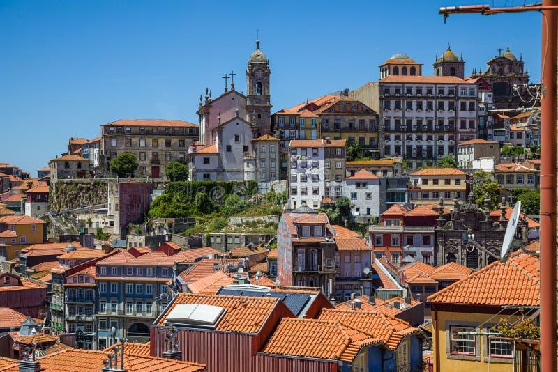Vista da sopra sulla vecchia città di Oporto, Portogallo fotografie stock libere da diritti