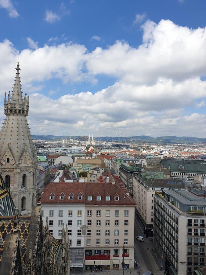 Vista da St Stephen & da x27; cattedrale di s fotografia stock libera da diritti