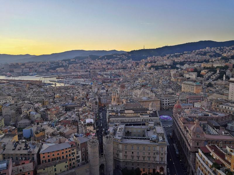Landscape Of Genova From Top Stock Image Image Of Terrazza