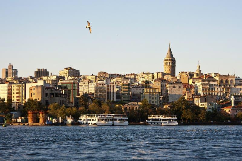 Vista da torre de Galata, Istambul imagem de stock royalty free