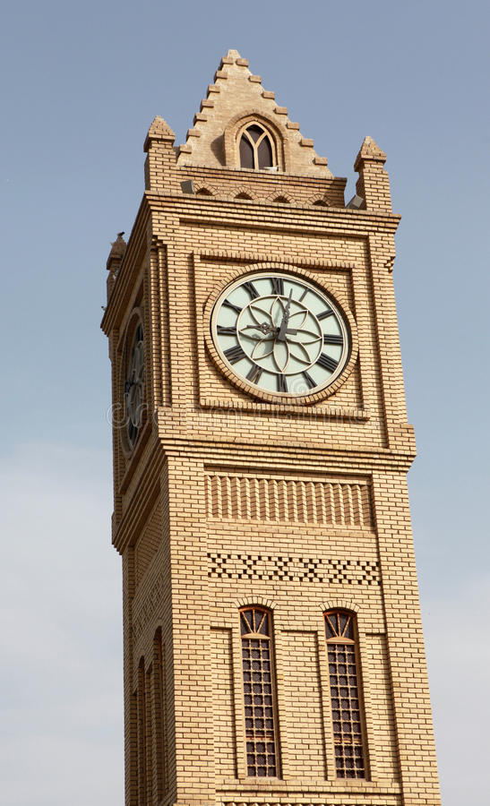 A torre de pulso de disparo em Erbil, Iraque. fotos de stock royalty free