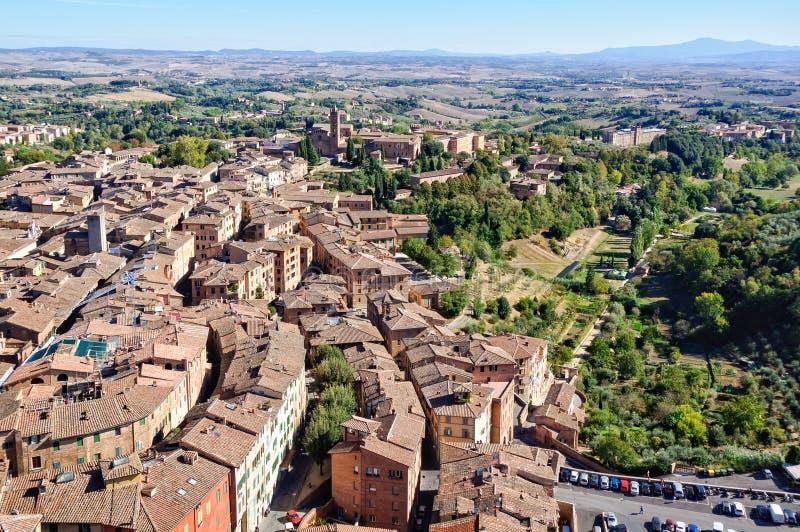 Vista da Torre del Mangia 1 - Siena immagine stock