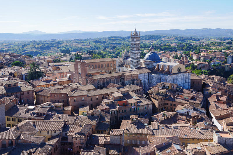 Vista da Torre del Mangia 2 - Siena immagine stock libera da diritti
