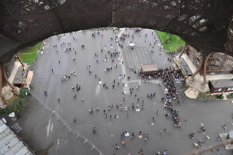 Vista da torre Eiffel imagem de stock royalty free