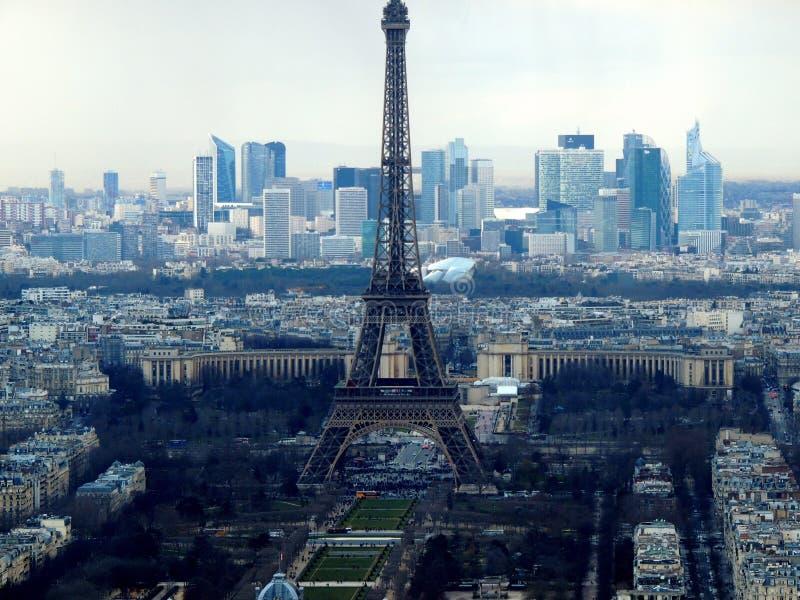 Vista da torre Eiffel de Montparnasse fotos de stock royalty free