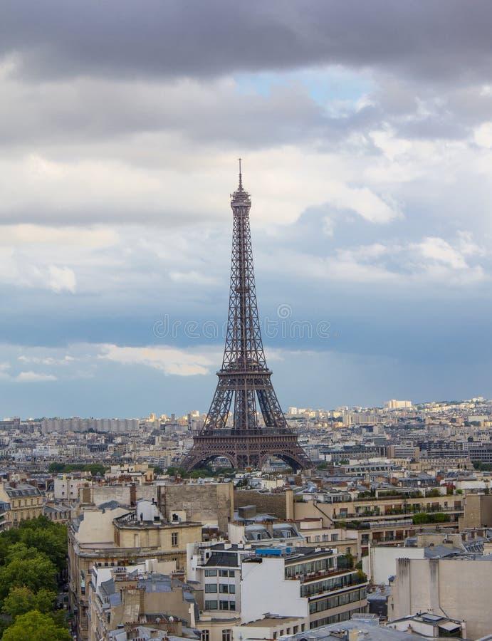 Vista da torre Eiffel de Paris fotos de stock royalty free