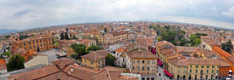 Vista da torre inclinada de Pisa fotografia de stock