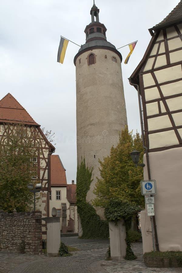 Vista da torre redonda do turmersturm fotografia de stock