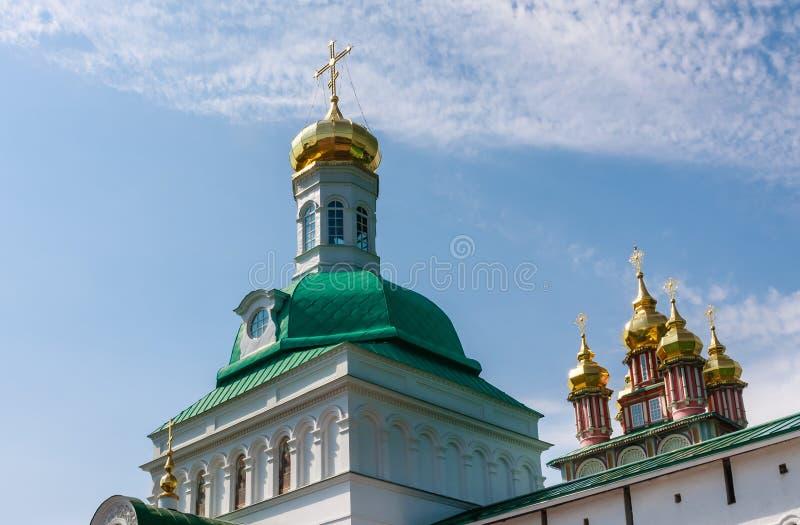 Vista da trindade santamente St Sergius Lavra Sergiev Posad fotos de stock royalty free