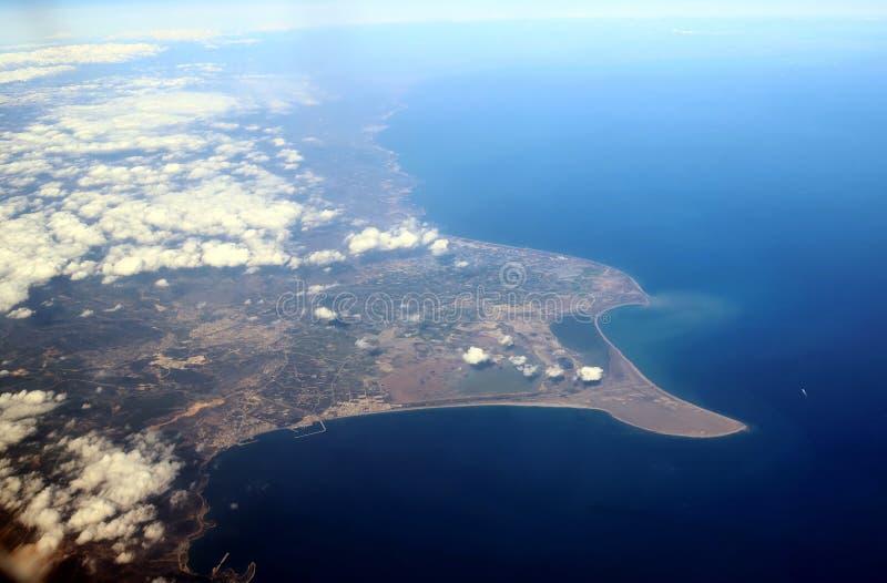 Vista da un aeroplano della Turchia fotografia stock libera da diritti
